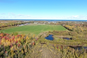 This particular parcel covers an area of 77 acres in Cap-Pelé, NB.